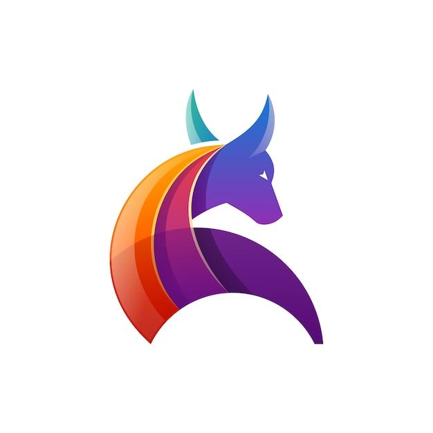 Vecteur de logo bull Vecteur Premium