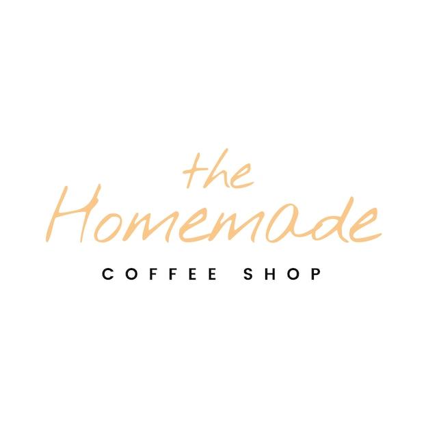 Le vecteur de logo de café fait maison Vecteur gratuit