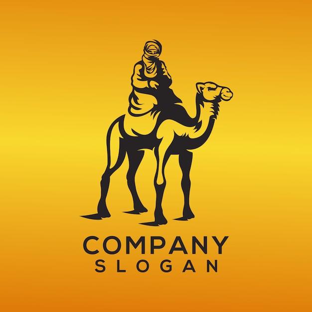 Vecteur de logo chameau Vecteur Premium