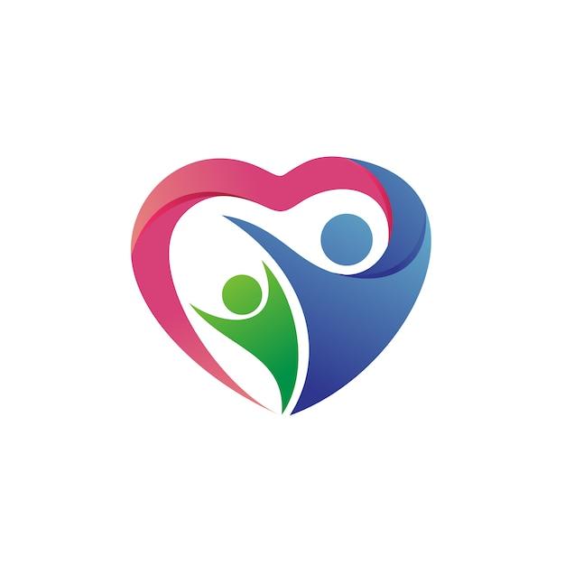 Vecteur de logo de charité et de fondation Vecteur Premium