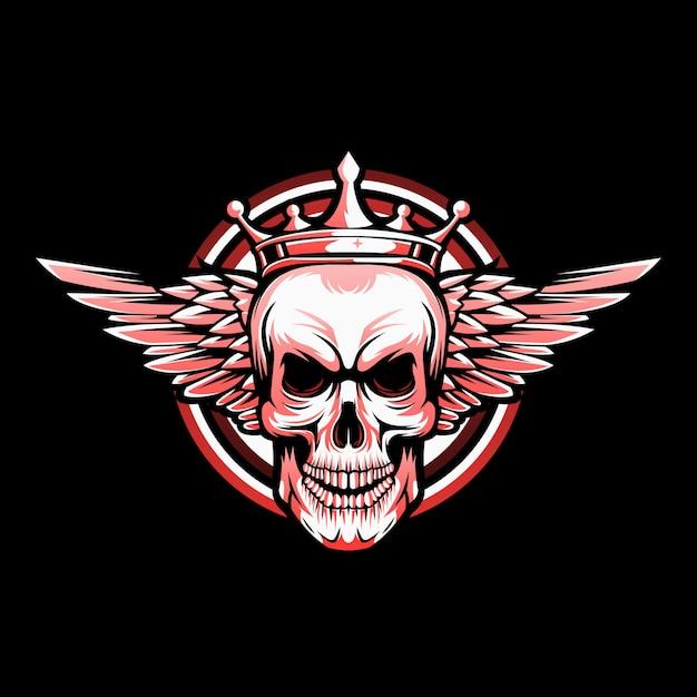 Vecteur De Logo De Crâne Ailé Vecteur Premium