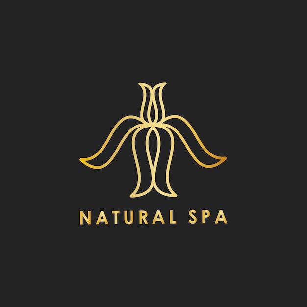 Vecteur De Logo Design Spa Naturel Vecteur gratuit