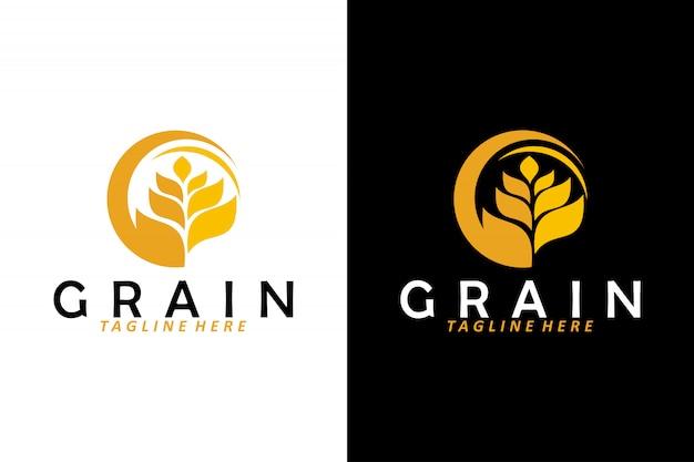 Vecteur De Logo De Grain De Blé Isolé Vecteur Premium