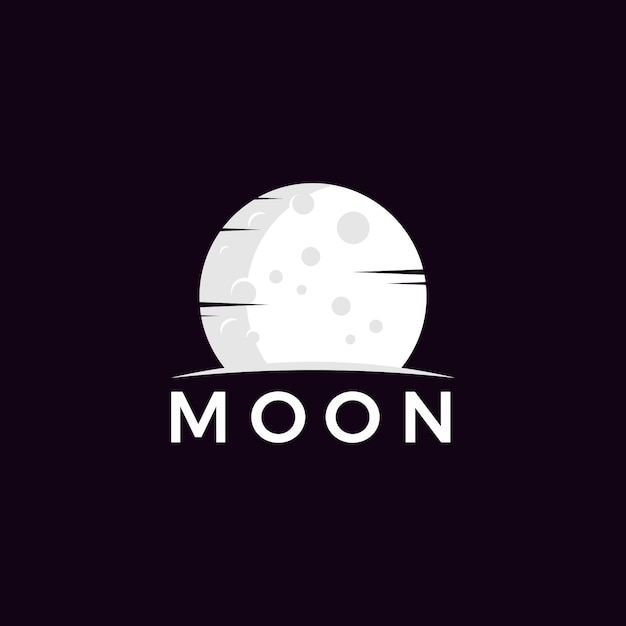Vecteur de logo de lune minimaliste Vecteur Premium