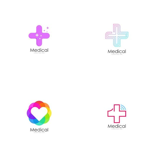 Vecteur de logo médical. Vecteur Premium