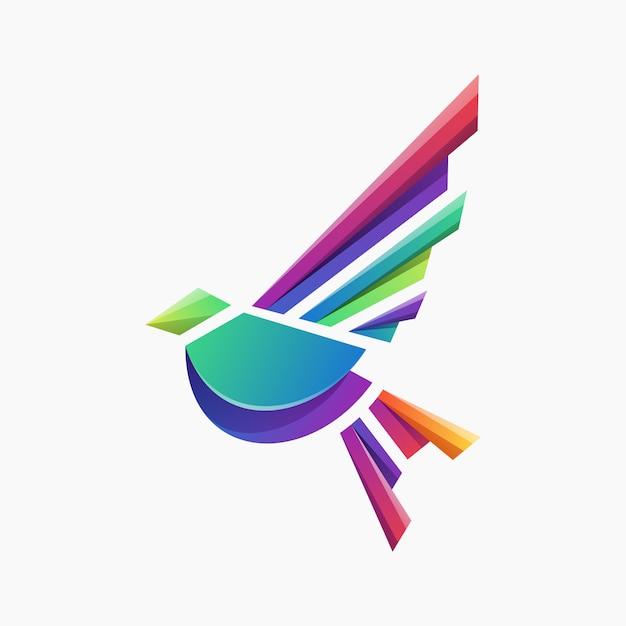 Vecteur logo oiseau Vecteur Premium