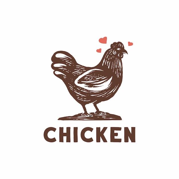 Vecteur de logo de poulet Vecteur Premium