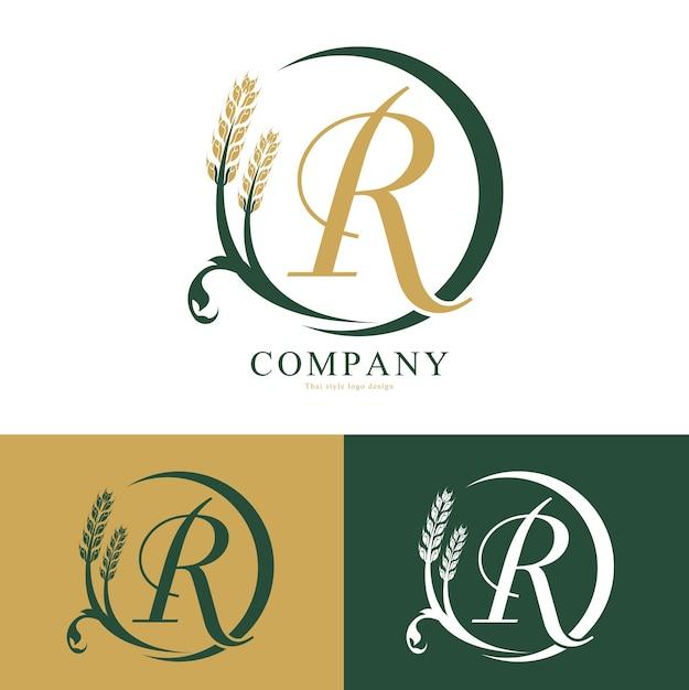 Vecteur de logo de riz Vecteur Premium