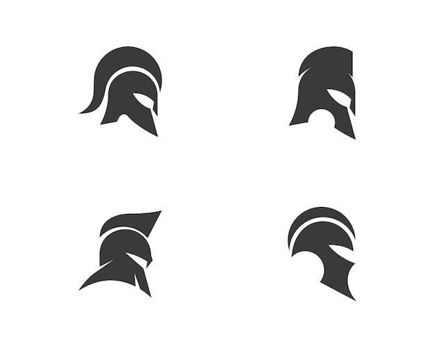 Vecteur de logo spartiate Vecteur Premium