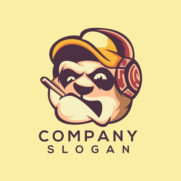 Vecteur de logo tête de chien Vecteur Premium