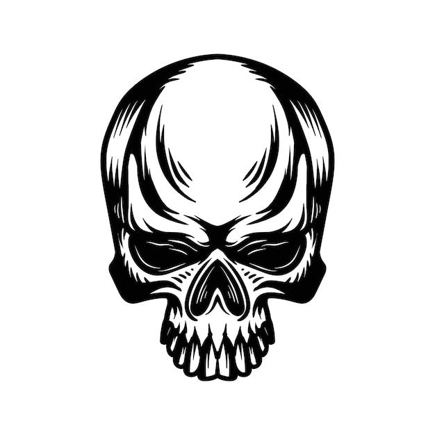 Vecteur de logo tête de crâne Vecteur Premium