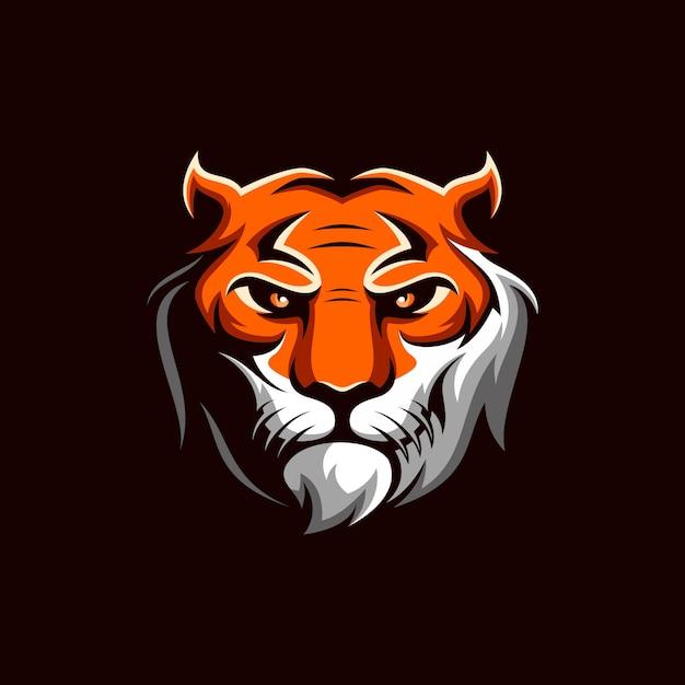 Vecteur de logo de tigre Vecteur Premium