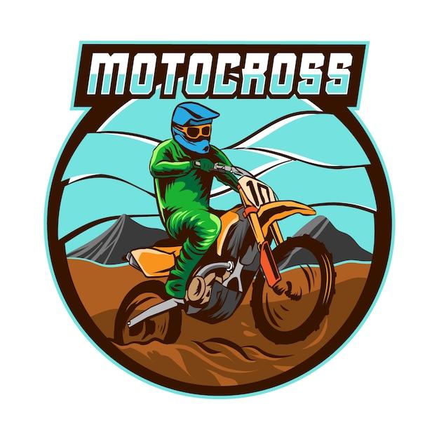 Vecteur De Logo De Tournoi De Motocross Vecteur Premium