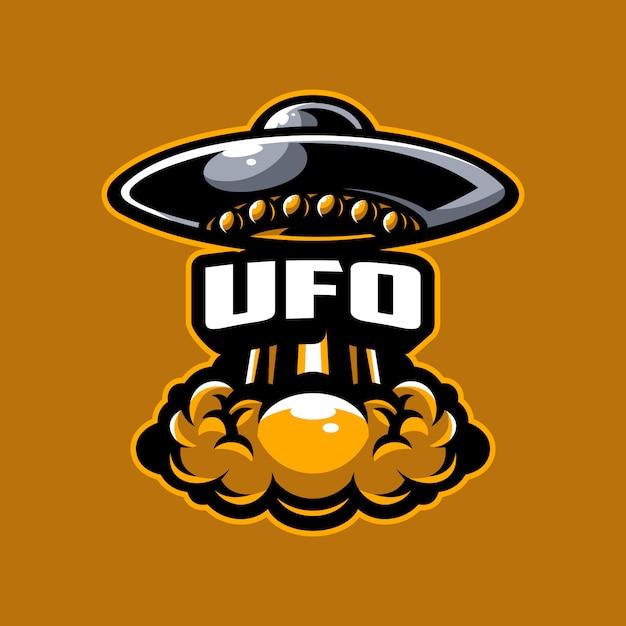 Vecteur logo ufo Vecteur Premium