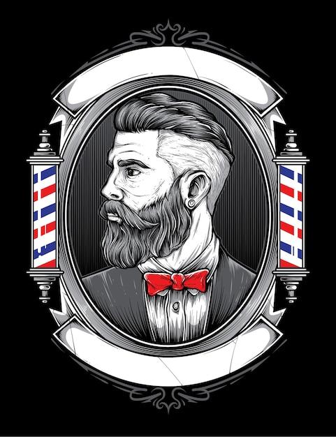 Vecteur de magasin de coiffeur Vecteur Premium