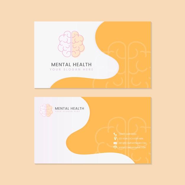 Vecteur de maquette de carte de nom psychiatre santé mentale Vecteur gratuit