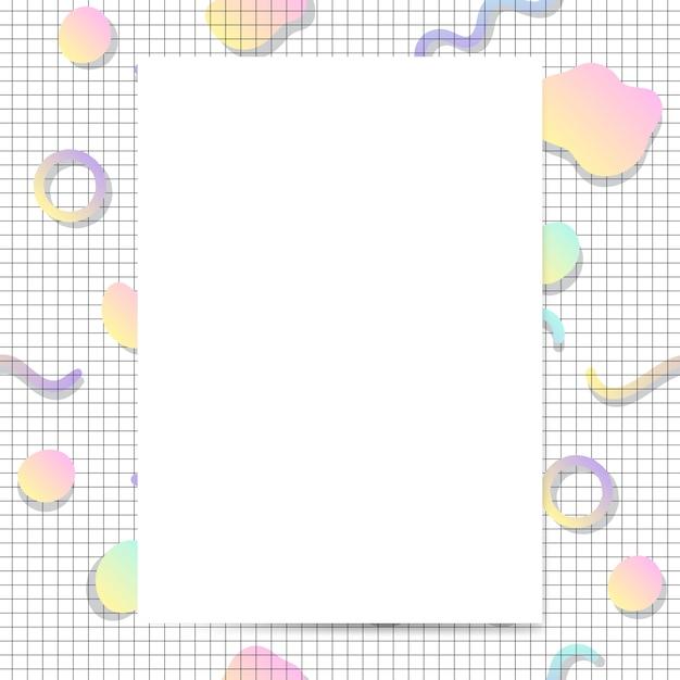 Vecteur de maquette de carte pastel girly Vecteur gratuit