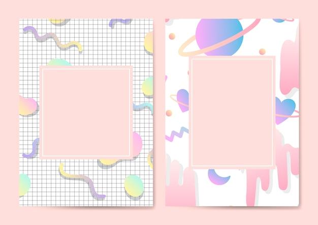 Vecteur de maquette carte pastel girly Vecteur gratuit