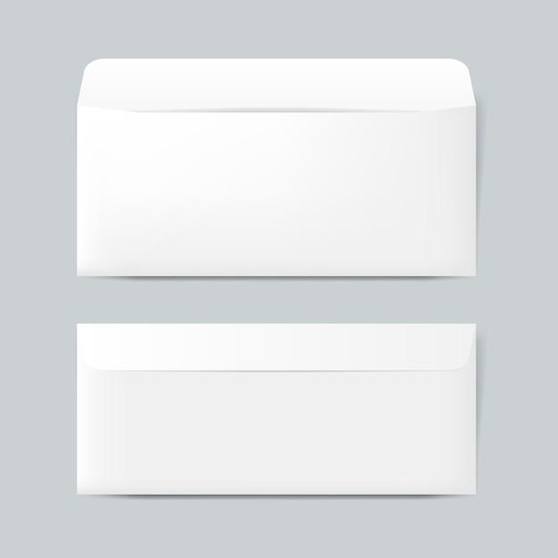 Vecteur de maquette de conception enveloppe papier Vecteur gratuit
