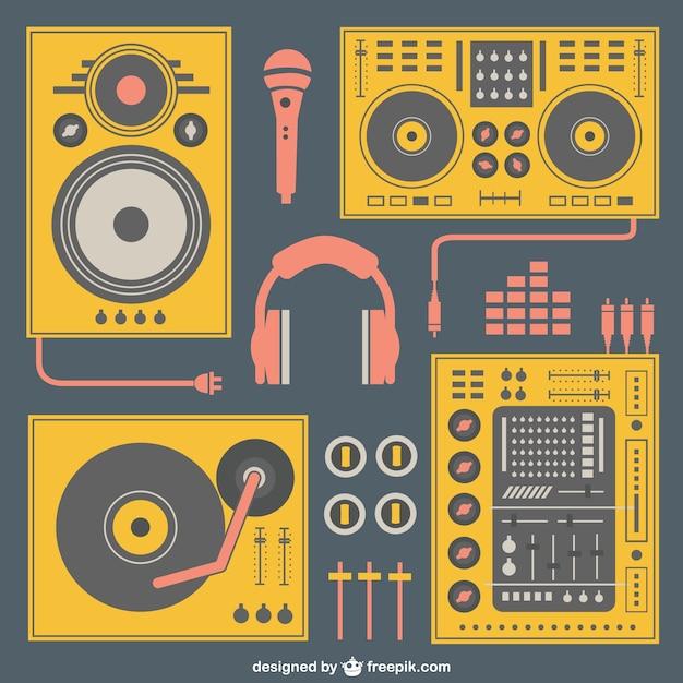 Vecteur matériel de musique Vecteur gratuit