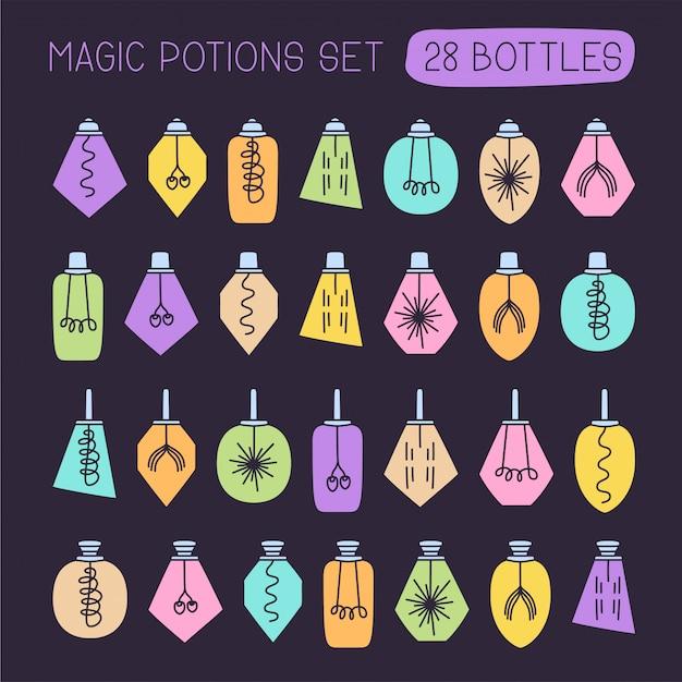Vecteur méga set de potion Vecteur Premium