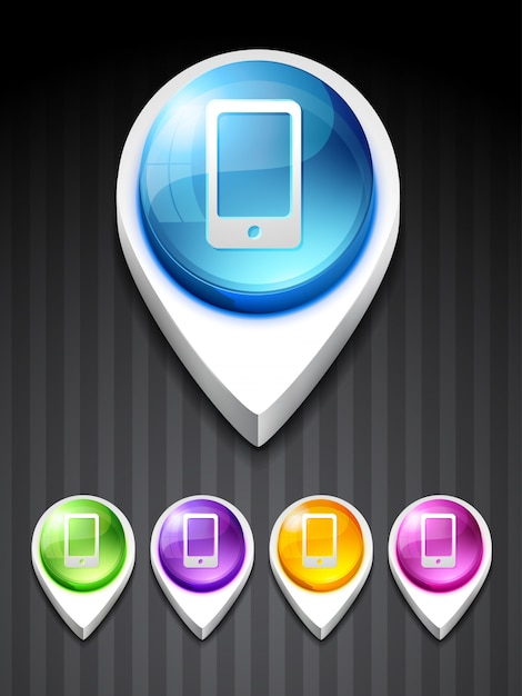 Vecteur Mobile Icon Design Art Vecteur gratuit