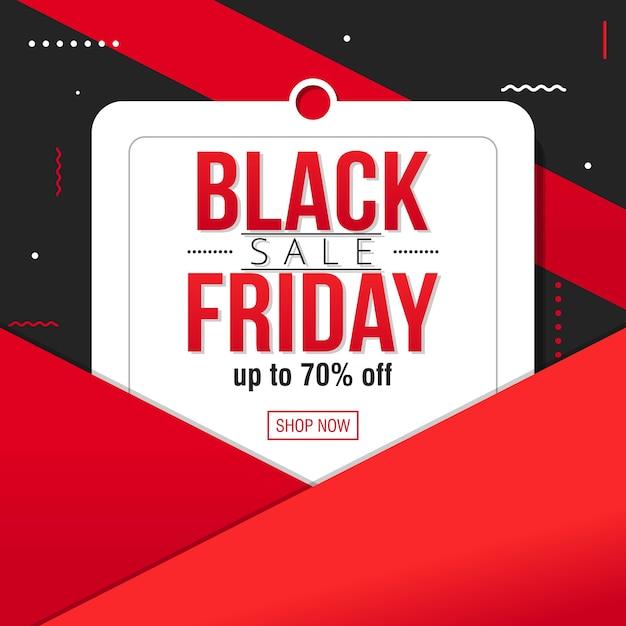 Vecteur de modèle de bannière vente vendredi noir Vecteur Premium