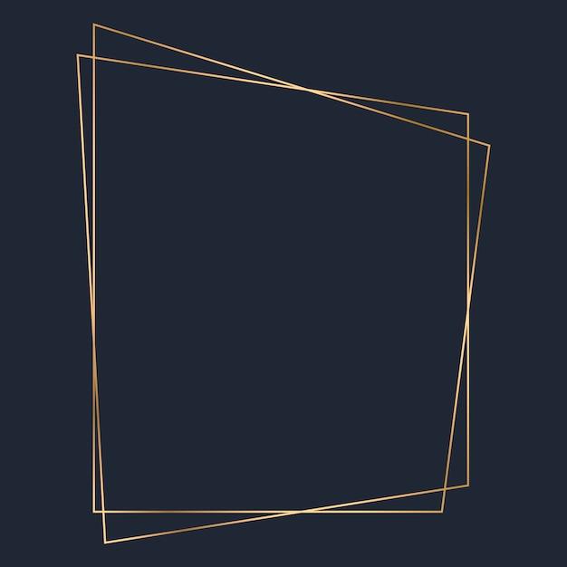 Vecteur de modèle de cadre trapézoïdal doré Vecteur gratuit
