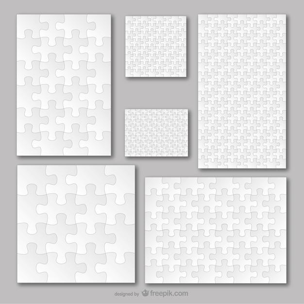 Vecteur Modèle De Puzzle Ensemble Vecteur gratuit