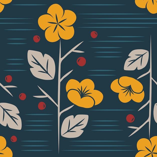 Vecteur de motif floral sans soudure Vecteur gratuit
