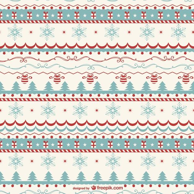 Vecteur De Motif Vintage De Noël Vecteur gratuit