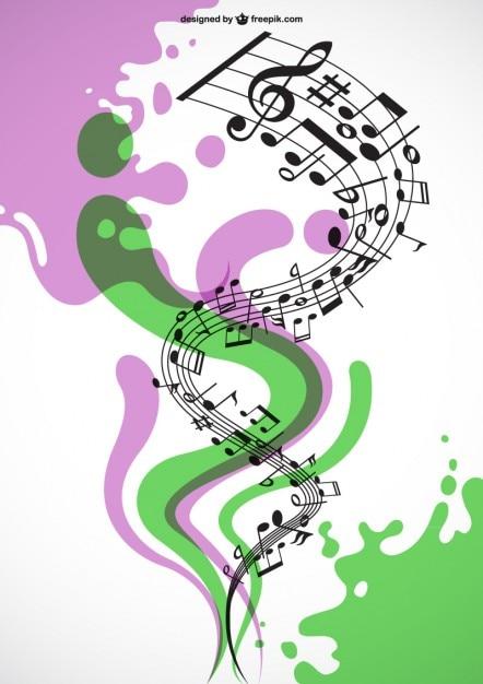 Vecteur de la musique en spirale Vecteur gratuit