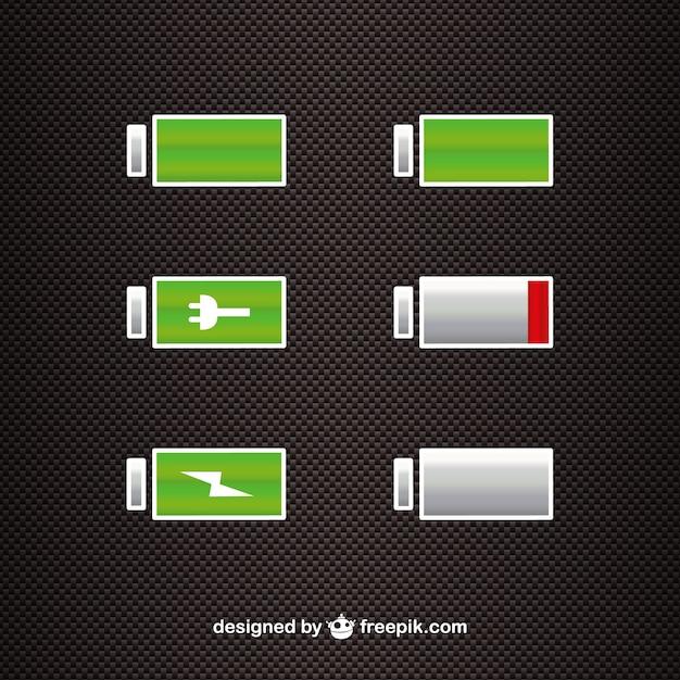 Vecteur De Niveau De Puissance De La Batterie Vecteur gratuit