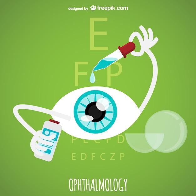 Vecteur D'ophtalmologie Vecteur gratuit