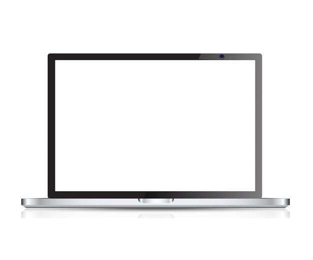 Vecteur d'ordinateur portable réaliste Vecteur Premium