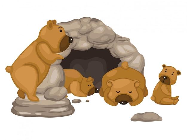 Vecteur d'ours Vecteur Premium