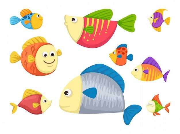 Vecteur de poisson Vecteur Premium