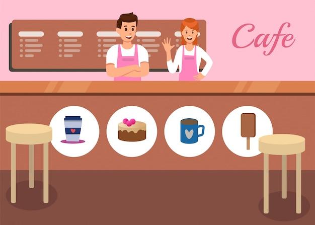 Vecteur de promotion café et café snack Vecteur Premium