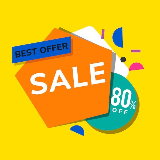 Vecteur de publicité de promotion de magasin Vecteur gratuit