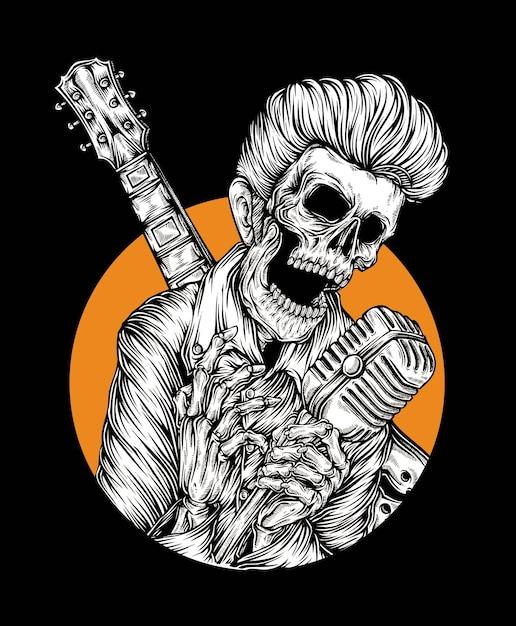 Vecteur de rock star Vecteur Premium
