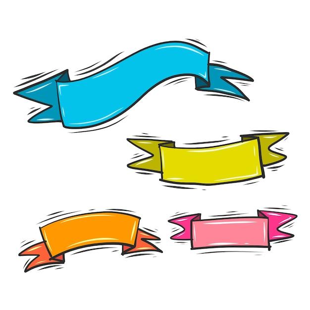 Vecteur de ruban coloré Vecteur gratuit