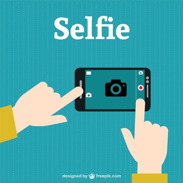 Vecteur Selfie Photograpy Vecteur gratuit