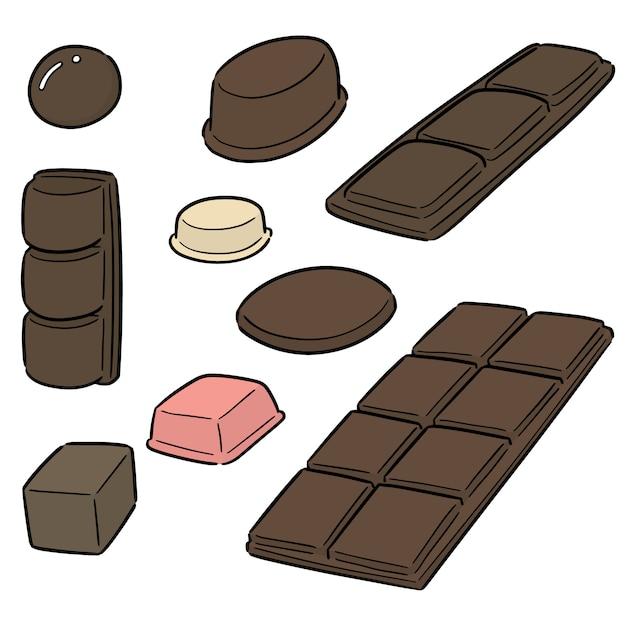 Vecteur série de chocolat Vecteur Premium