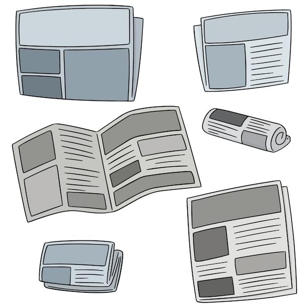 Vecteur série de journal Vecteur Premium