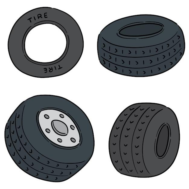 Vecteur série de pneus Vecteur Premium