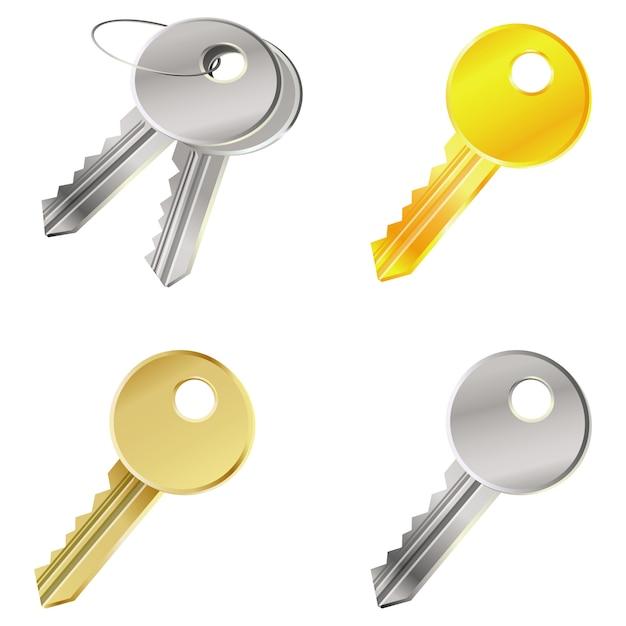 Vecteur sertie de clés - concept de sécurité Vecteur Premium