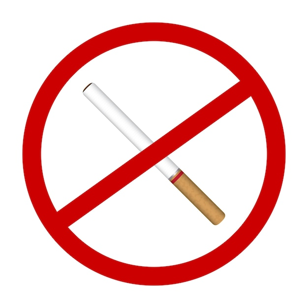 Un Vecteur De Signes Sans Fumée Cigarette Icône Vecteur Premium