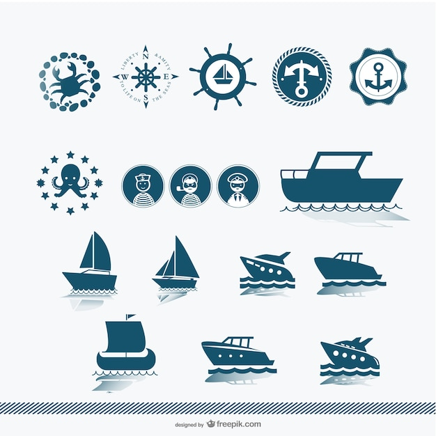 Vecteur silhouette navire Vecteur gratuit