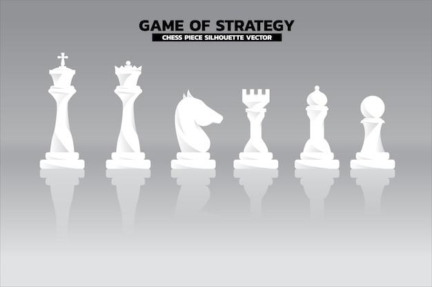 Vecteur de silhouette de pièce d'échecs Vecteur Premium