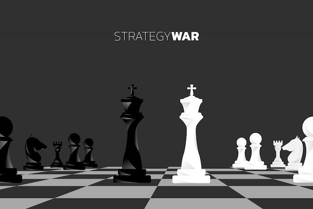 Vecteur de silhouette de pièce d'échecs. Vecteur Premium